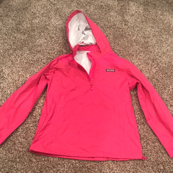 233cb5c20 Vineyard Vines Jackets & Coats | Euc Quarter Zip Rain Jacket Size S ...